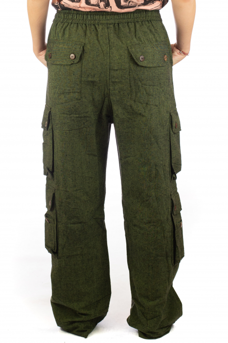Pantaloni din bumbac cu buzunare - Khaki 8