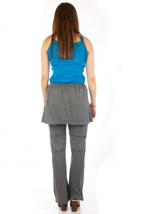 Pantaloni din bumbac cu fusta - Gri 4