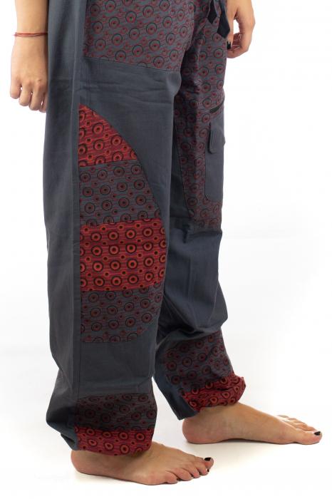 Pantaloni din bumbac cu print - Gri PT140 5