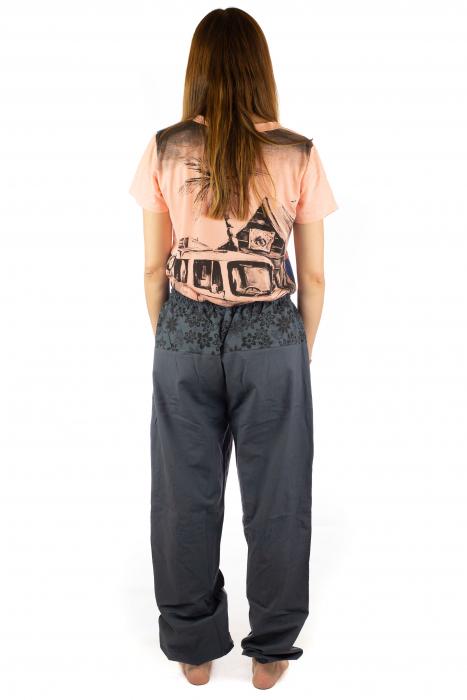 Pantaloni din bumbac cu print - Gri PT140 6
