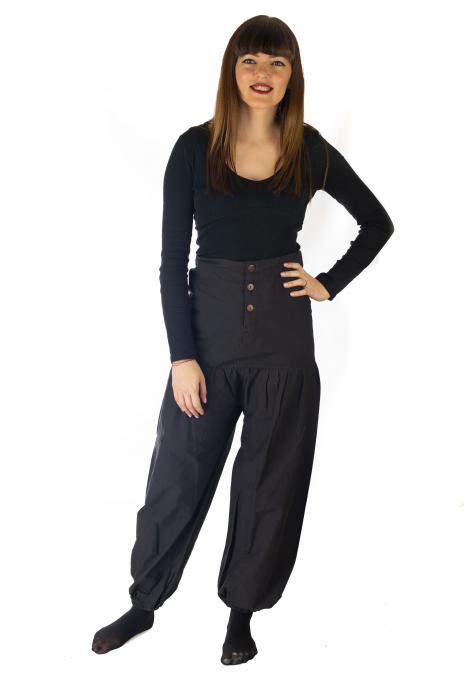 Pantaloni din bumbac - Negru 0