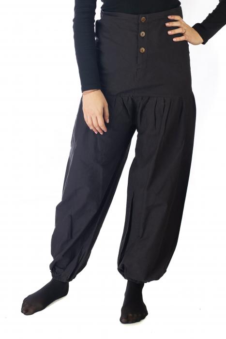 Pantaloni din bumbac - Negru 1