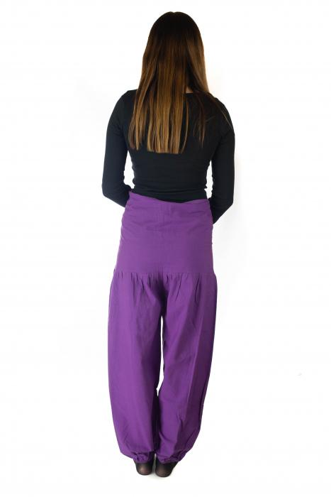 Pantaloni din bumbac - Mov [3]
