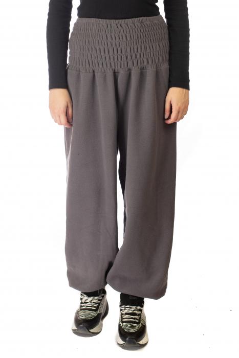 Pantaloni din polar cu banda elastica - Gri 1