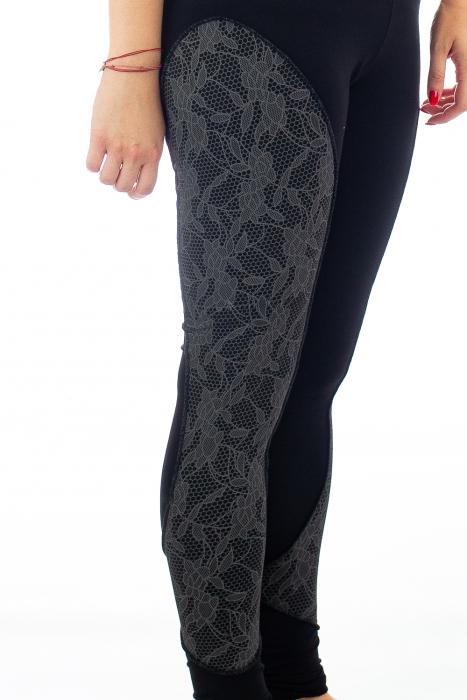 Pantaloni elastici din bumbac pentru Yoga - Model 4 4