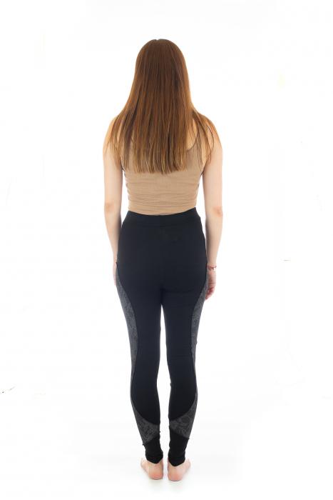 Pantaloni elastici din bumbac pentru Yoga - Model 4 5