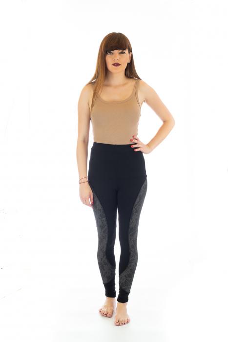 Pantaloni elastici din bumbac pentru Yoga - Model 4 1
