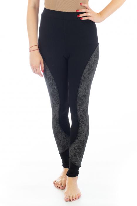 Pantaloni elastici din bumbac pentru Yoga - Model 4 0