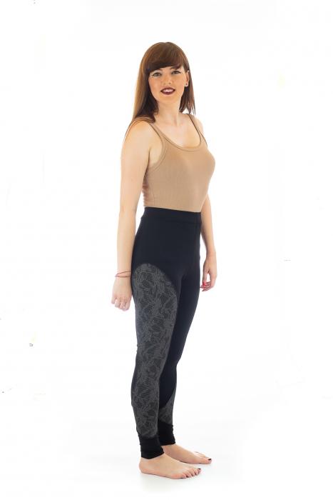Pantaloni elastici din bumbac pentru Yoga - Model 4 3