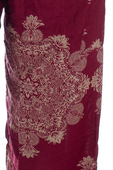 Pantaloni Jasmine cu print oriental - Model 12 1