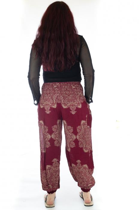 Pantaloni Jasmine cu print oriental - Model 12 3