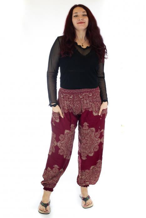 Pantaloni Jasmine cu print oriental - Model 12 0