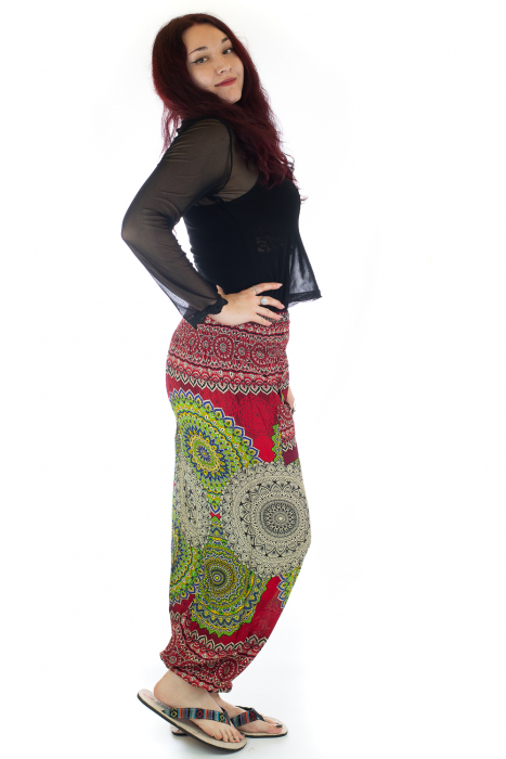 Pantaloni Jasmine cu print oriental - Model 3 2