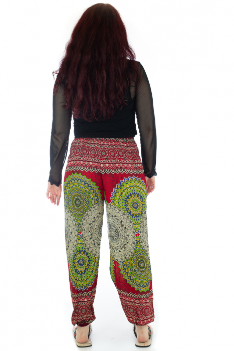 Pantaloni Jasmine cu print oriental - Model 3 3