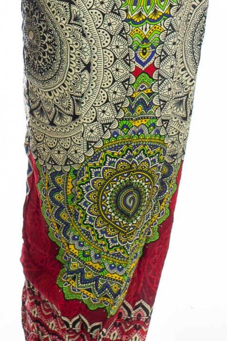 Pantaloni Jasmine cu print oriental - Model 3 1