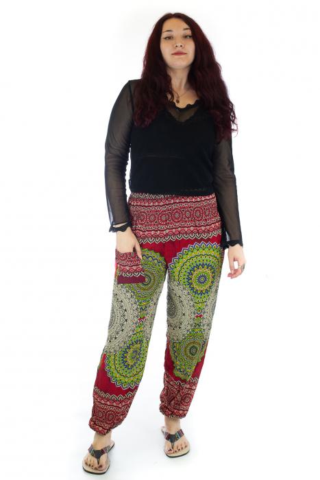 Pantaloni Jasmine cu print oriental - Model 3 0