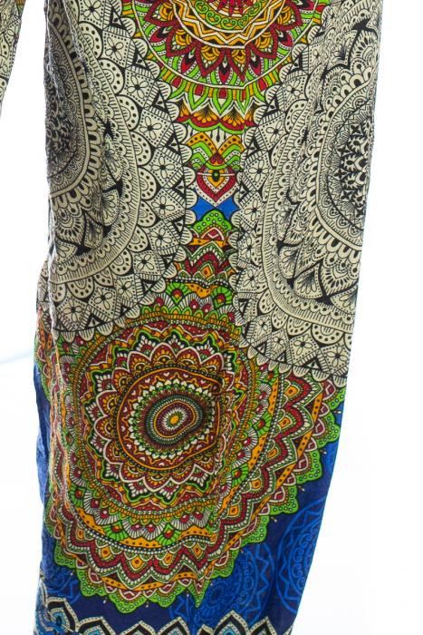 Pantaloni Jasmine cu print oriental - Model 4 1