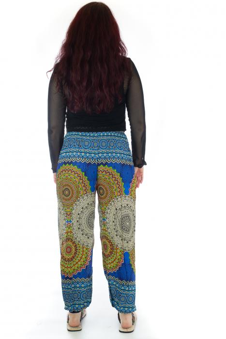 Pantaloni Jasmine cu print oriental - Model 4 3