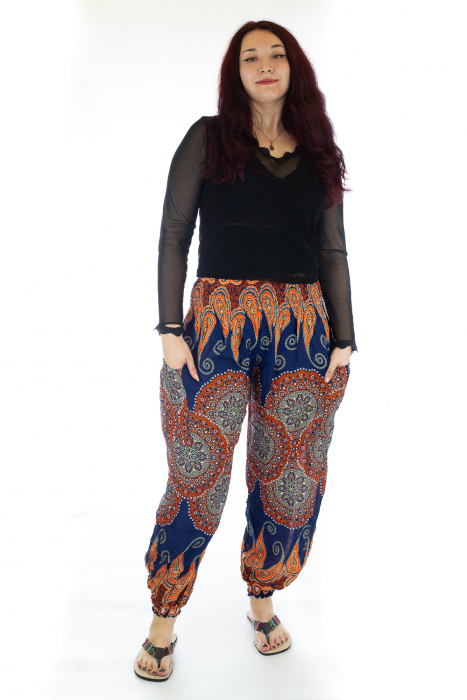 Pantaloni Jasmine cu print oriental - Model 6 0