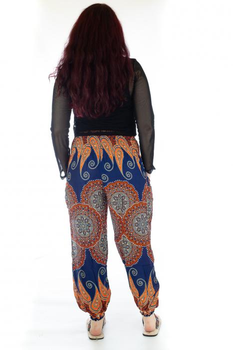 Pantaloni Jasmine cu print oriental - Model 6 3