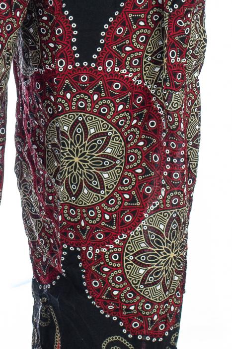 Pantaloni Jasmine cu print oriental - Model 8 1