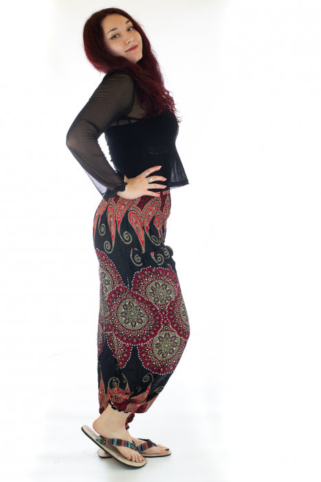 Pantaloni Jasmine cu print oriental - Model 8 2