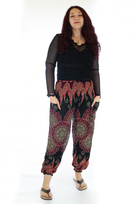 Pantaloni Jasmine cu print oriental - Model 8 0