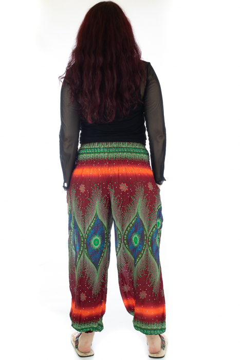 Pantaloni Jasmine cu print oriental - Model 10 3