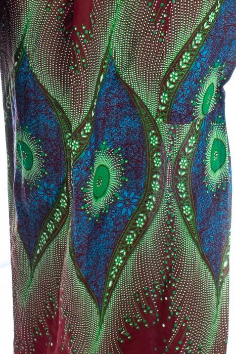 Pantaloni Jasmine cu print oriental - Model 10 1