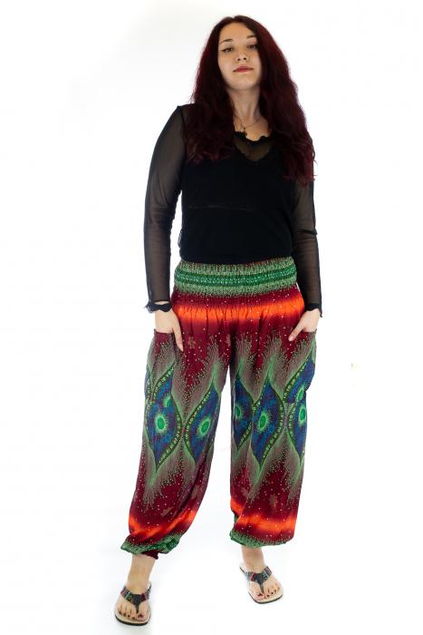 Pantaloni Jasmine cu print oriental - Model 10 0