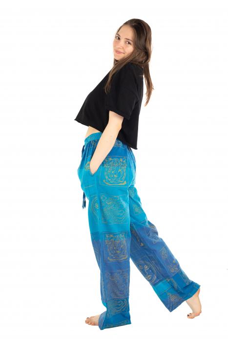 Pantaloni lejeri albastri - Heart of Hinduism [3]