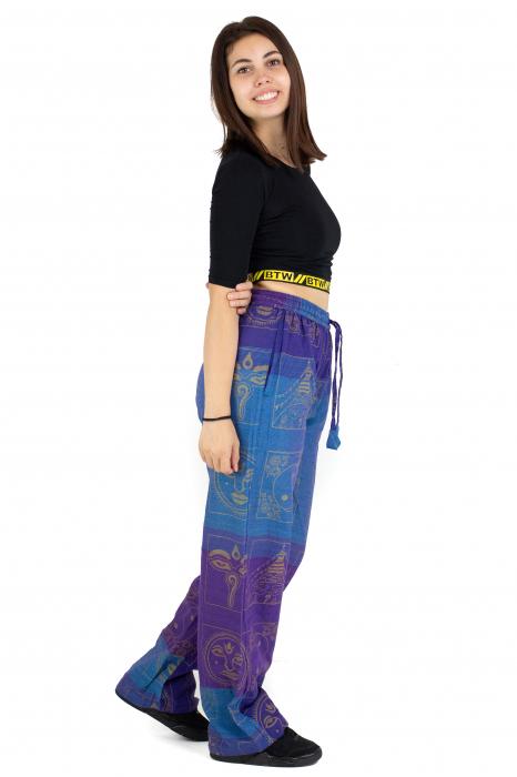 Pantaloni lejeri albastru cu mov - Heart of Hinduism [2]