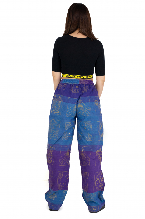 Pantaloni lejeri albastru cu mov - Heart of Hinduism [6]