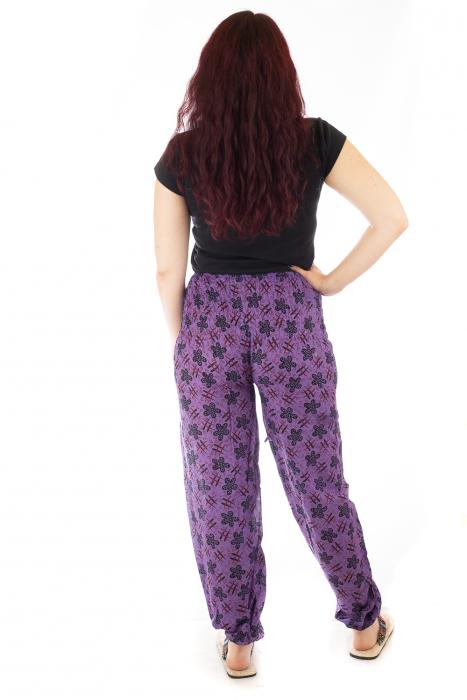 Pantaloni lejeri din bumbac - Hashtag Flower 2