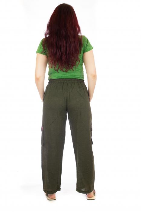 Pantaloni lejeri - Etno Verde 3