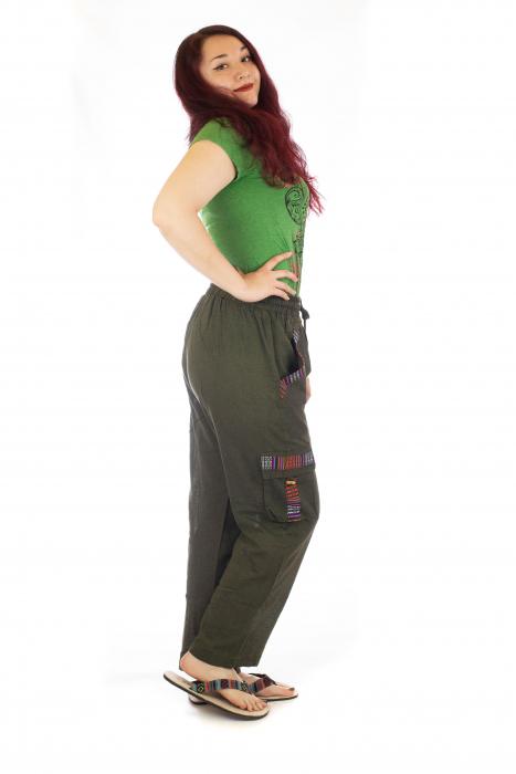 Pantaloni lejeri - Etno Verde 1