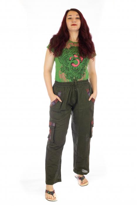 Pantaloni lejeri - Etno Verde 0