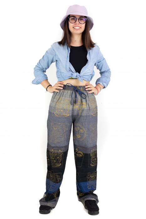 Pantaloni lejeri gri negru cu albastru - Heart of Hinduism [1]