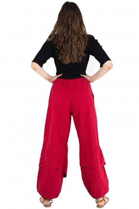 Pantaloni lejeri intr-o culoare - Rosu [4]