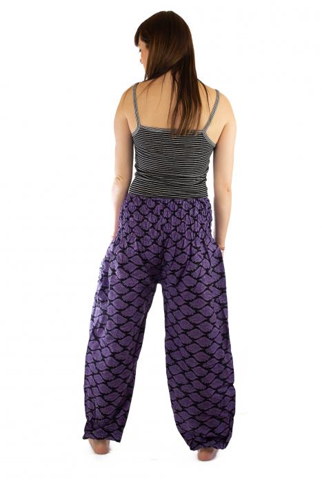Pantaloni Lejeri - Mov cu Print 3