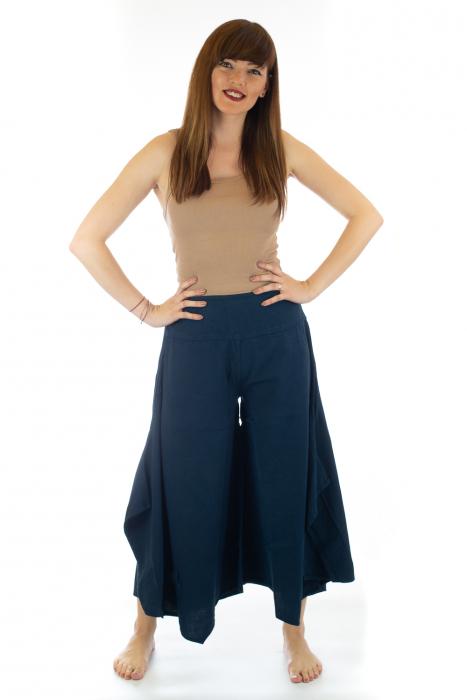 Pantaloni lejeri - Petal Tips Evazat - Albastru [0]
