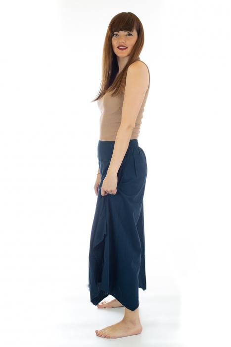 Pantaloni lejeri - Petal Tips Evazat - Albastru [2]