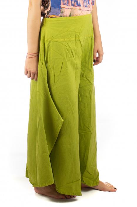 Pantaloni lejeri - Petal Tips Evazat - Lime [3]