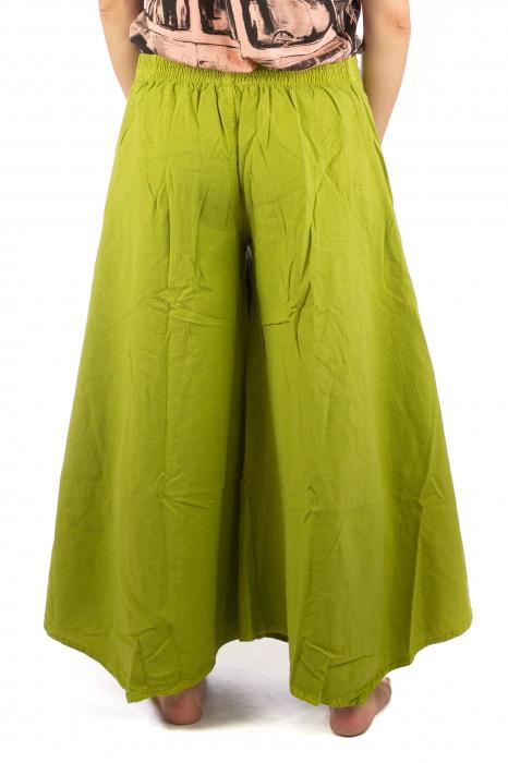Pantaloni lejeri - Petal Tips Evazat - Lime [6]