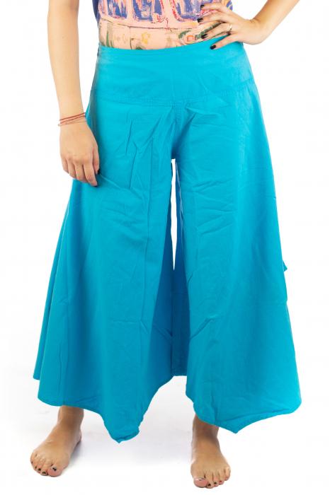 Pantaloni lejeri - Petal Tips Evazat - Albastru Deschis [0]