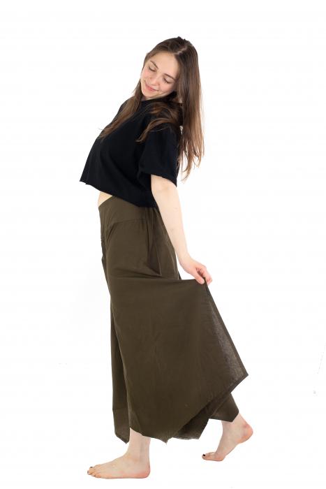 Pantaloni lejeri - Petal Tips Evazat - Turqoaz Inchis [3]