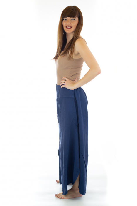 Pantaloni lejeri - Petal Tips Evazat - Albastru [1]
