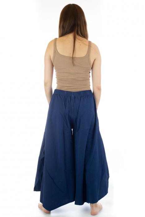 Pantaloni lejeri - Petal Tips Evazat - Albastru [3]