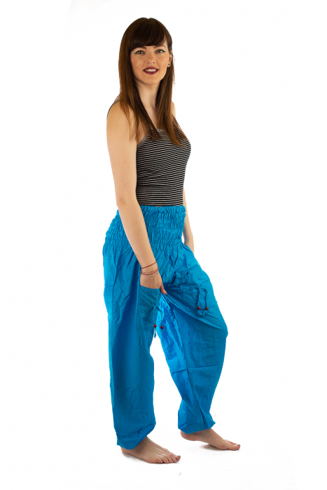 Pantaloni Lejeri - Turcoaz 3