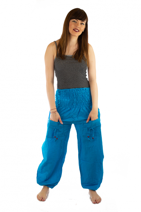 Pantaloni Lejeri - Turcoaz 0